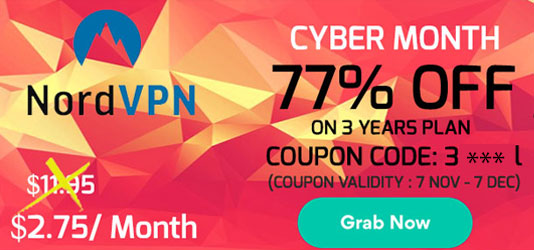 Nord VPN Cyber Monday Week SALE: $2.75/month